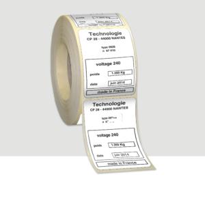 etiquettes autocollantes RESISTANTES secteur INDUSTRIE Polyester Pelliculage brillant SOLIDITÉ LUMIÈRE JUSQU'À 10 ANS environnements techniques