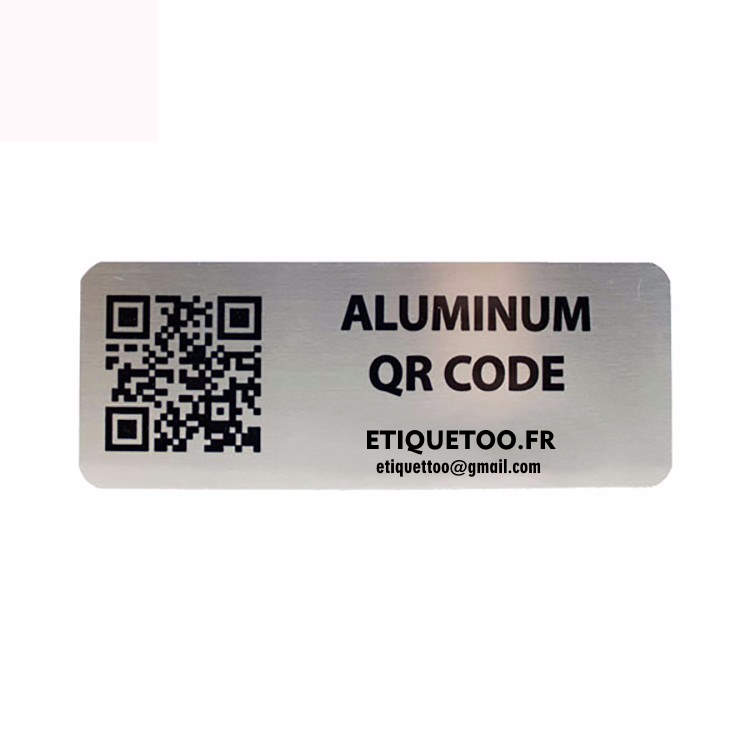 Etiquette aluminium- Étiquette ultra-résistante métallique -etiquettes adhesive aluminium souple