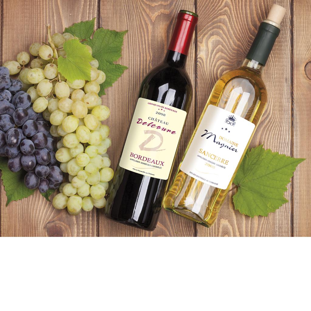 etiquettes vin - etiquettes de Vins autocollantes-étiquettes viticoles-etiquette de vin de luxe - etiquette vin luxe