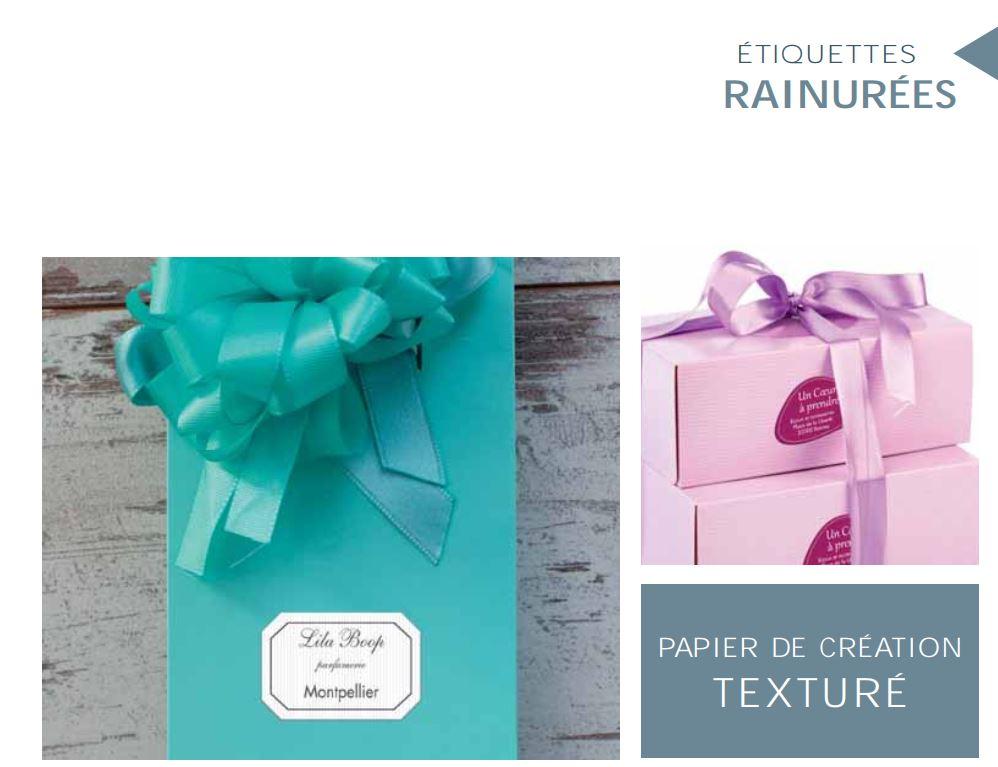 etiquettes autocollantes Rainurées -papier de création TEXTURE