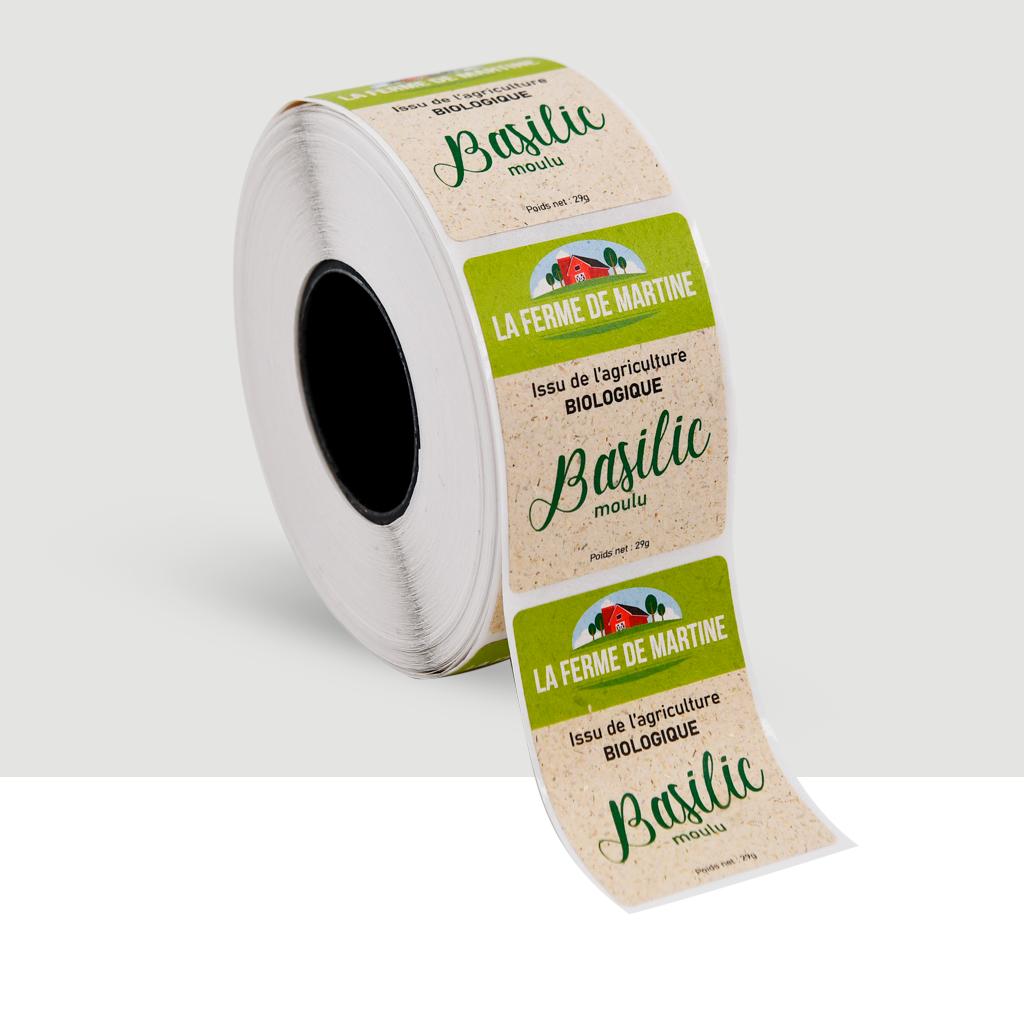 etiquettes ecologique 100 % BIO - rouleau etiquettes autocollantes personnalisees-etiquette dorure à chaud- etiquette resistante à la chaleur-feuille de metal autocollante- etiquette metal personnalisee-autocollant professionnel et étiquette adhesive_