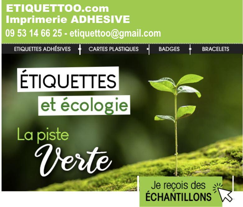 étiquettes adhésives ecologiques -etiquettes autocollantes  100 % biodégradables