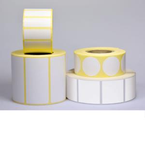 etiquettes autocollantes Papier couché blanc satiné- IMPRIMEZ VOUS-MÊME VOS ÉTIQUETTES ADHÉSIVES Pour imprimantes transfert thermique
