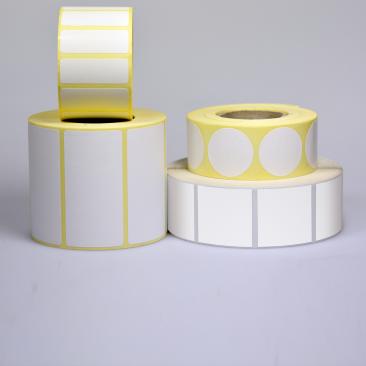 etiquettes autocollantes Papier velin blanc-etiquettes autocollantes transfert thermique en rouleau