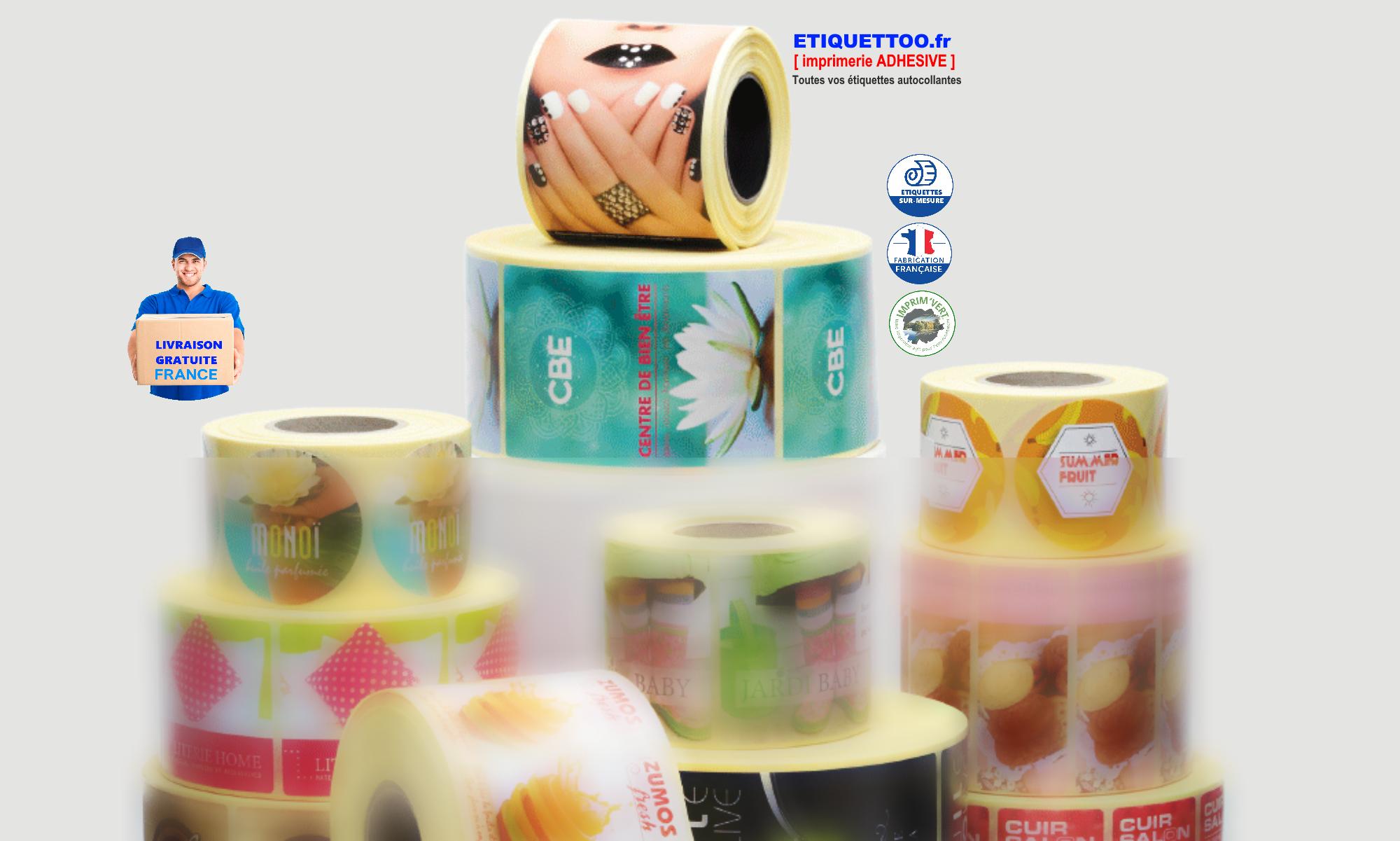 etiquettes autocollantes -imprimerie ETIQUETTOO