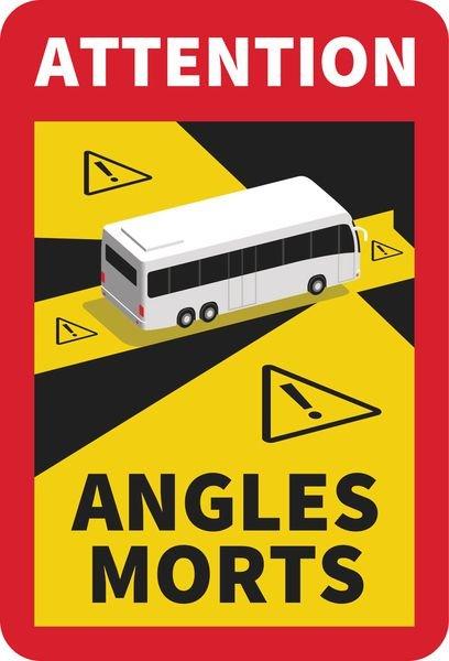 etiquette autocollante angle mort -adhésif angle mort-etiquette autocollante angle mort camion -etiquette autocollante angle mort bus