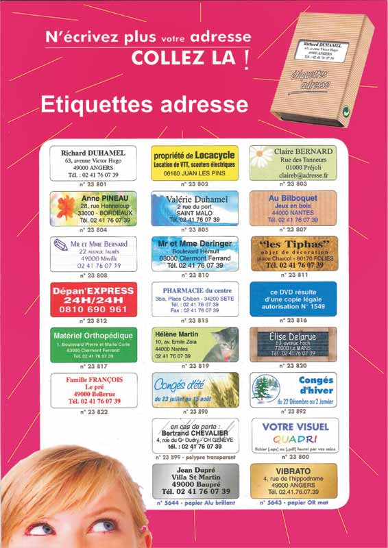 étiquette adresse personnalisé - etiquettes ADRESSE - etiquette autocollante adresse