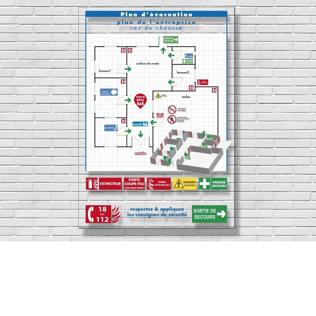 signalétique -panneaux polyester - panneaux muraux -signalétique personnalisée